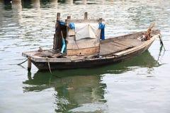 Boat. Oldboat sea fishing Stock Image