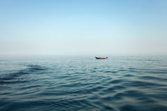 Boat in open water Royalty Free Stock Image