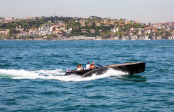 Boat out in the coastal zone of the Marmara sea Stock Photography