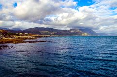 Hermanus, capetown. On a boat outside of Hermanus, cape town Stock Photos