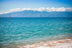 Boat in the Pacific Ocean, Lahaina, Maui Royalty Free Stock Images