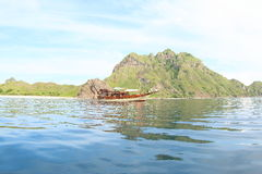 Boat at Padar Island royalty free stock images