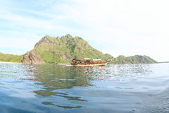 Boat at Padar Island stock photos