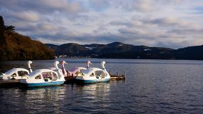 Boat Paddling Scenery Stock Image