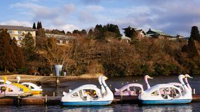 Boat Paddling Scenery Stock Photography
