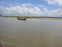 Boat at padma. This photo has taken from padma river of Bangladesh Royalty Free Stock Photos