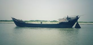 Boat is in the padma river. Boat is in padma river Stock Photography