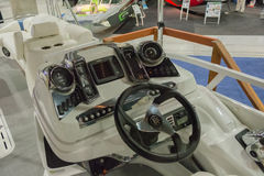 Boat panel. Los Angeles, California, USA - February 19, 2015 -Boat panel  at the Progressive Los Angeles Boat Show in L.A. Convention Center Royalty Free Stock Photo