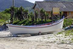Boat at Pantano do Sul beach Stock Photo