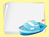 Boat and paper stock illustration