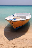 Boat on paradise beach Stock Photos