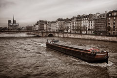Boat in Paris Stock Images
