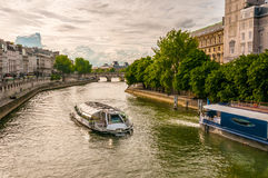 Boat in Paris Stock Image