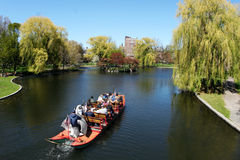 Boat in the park. Swan boat in the park Royalty Free Stock Photos
