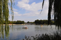 The boat in park. The boat in the park which was in Beijing of China stock image