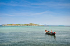 Boat parked in the sea Stock Image