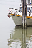 Boat parking at dock Stock Photography
