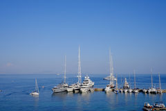 Boat parking. In Greece summer Stock Image