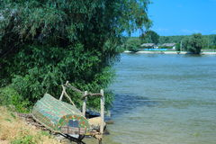 Boat parking. In the middle of the Danube delta Royalty Free Stock Photography