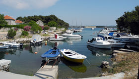 Boat parking on the sea. Royalty Free Stock Photo