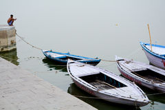 Boat and the passanger Royalty Free Stock Photo