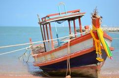 Boat on the Pattaya Beach thailand. The boat parking on the beach at Pattaya Thailand Stock Photography