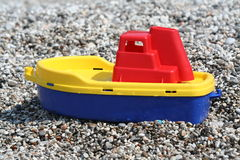 Boat and pebbles Royalty Free Stock Photos