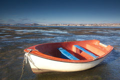 Boat in Pedrena, Cantabria Stock Images