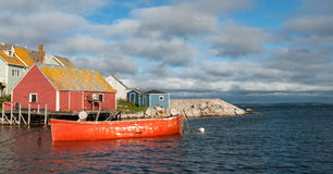 Boat at Peggy's Cove, Nova Scotia Stock Image