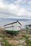 Boat at Penberth Cove in Cornwall Royalty Free Stock Images