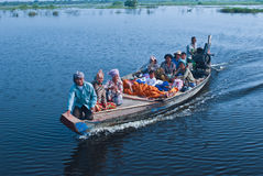 Boat with people Stock Image