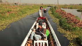 Boat people di Inle archivi video