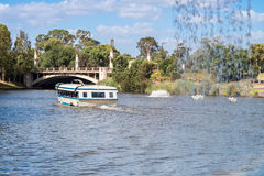 Boat with people in River Torrens Stock Photo