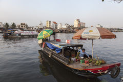 Boat people on Saigon river Stock Photography