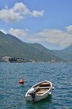 Boat in Perast Stock Image