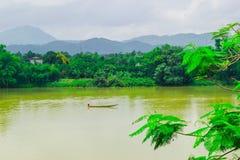 Boat at Perfume River (Song Huong) near Hue, Vietnam Royalty Free Stock Photo