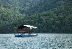 Boat in Phewa lake Stock Images