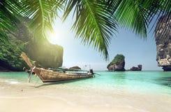 Boat at Phi Phi island Stock Photos