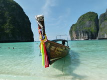 Boat at Phi Phi Island in Thailand Stock Photo