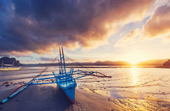 Boat in Philippines Stock Photo