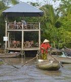 Boat at Phong Dien Floating Market Royalty Free Stock Photos