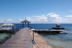 Boat Pier. In a Resort Stock Photography