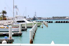 Boat at the pier. Small boat docked in keywest port Stock Images