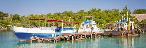 Boat pier at Cayo Levisa island Cuba. Boat pier at Cayo Levisa island, Cuba Stock Photo