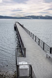Boat Pier in Lake Tahoe Royalty Free Stock Images