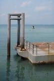 Boat pier or pontoon Stock Photos