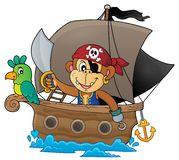Boat with pirate monkey theme 1 Stock Photography