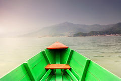 Boat in Pokhara lake Stock Photos