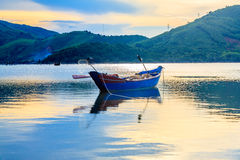 Boat on the pond royalty free stock images