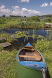 Boat at a pond Royalty Free Stock Images